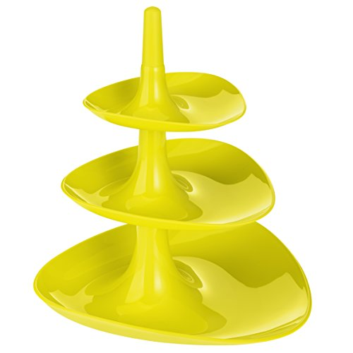 Koziol étagère Betty, thermoplastic, mustard green, 24.1 x 24.4 x 27.1 cm