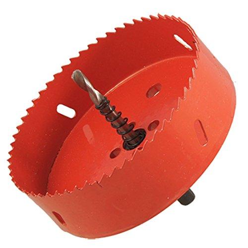 Lochsaege - SODIAL(R)120mm schneidend BI Metall Lochsaege Lochschneider fuer Holz Eisen Rot und schwarz