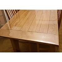 Nappe Transparente Épaisse Large 180 cm - ART2LATABLE Nappe 0.4mm d'Épaisseur, 1m80 cm de Large Protège Table ou Bureau…