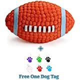 PnM Pet Dog Squeaky Rugby Ball Toy Chew Toy Squeaky Toy