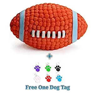 EETOYS Petlicious and More Dog Latex Squeaky Rugby Ball Toy (Medium)