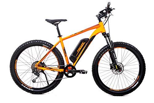 27,5 Zoll Fischer Alu Herren Elektro Fahrrad E-Bike Pedelec MTB Shimano 9 Gang 48V Signalorange matt