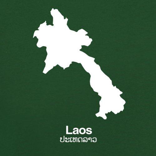 Laos Silhouette - Herren T-Shirt - 13 Farben Flaschengrün