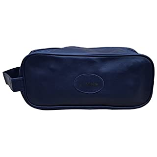 Acclaim Clywyd Shoe Boot Bag Navy Blue Leather Look Synthetic Material Zip Top & Handle 14