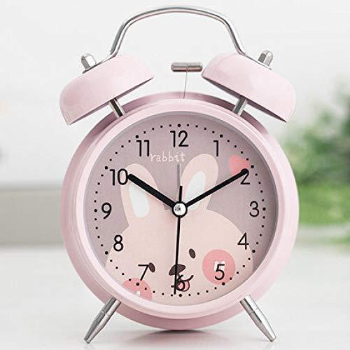 FPRW Reloj Despertador de Campana Doble de Dibujos Animados Lindo de 4 Pulgadas,...