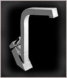 Inox mitigeur robinet évier en acier inoxydable avec douchette extractible cuisine salle de bain a8
