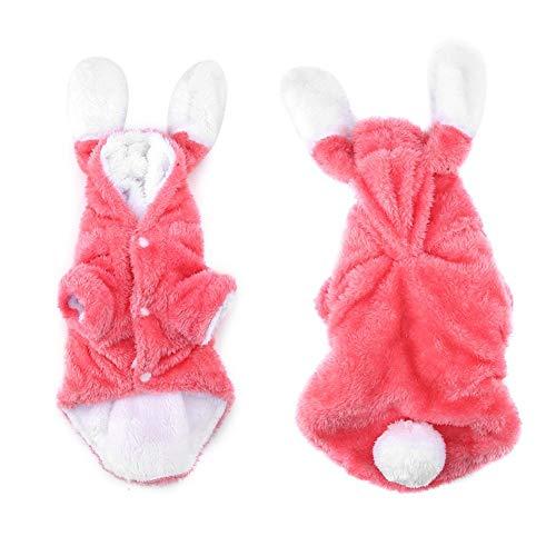 Kleidung Pullover Outfit Mantel Urlaub Kostüm Pyjamas Warme Winter Fleece Haustier Mantel für Welpen Samt Rosa(M) ()