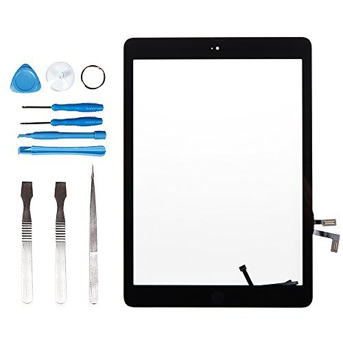 LL TRADER for iPad Air 1 iPad 5 Black Touch Screen Digitizer Front Glass with Home Button Pre-assembled -