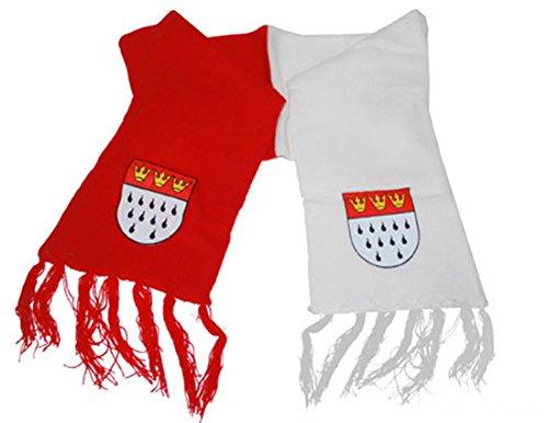 Halloweenia - Karneval Accessoire Schal 2-farbig, Kölner Wappen, Rot (Hula Boy Kostüm)