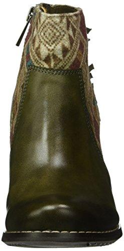 Manitu 961563, Bottines à doublure froide femme Vert - Grün (Khaki)