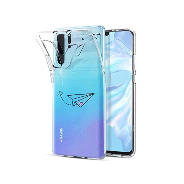 Oihxse Transparente Silicona Case Compatible con Huawei Enjoy 8 Plus/Y9 2018 Funda Suave TPU Protección Carcasa Moda… 2