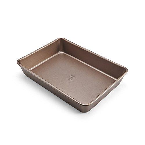Chicago Metallic 5212100 Elite Kuchenform, rechteckig, Antihaftbeschichtung, Karbonstahl, 33 x 23 cm, bronzefarben - Chicago Metallic Brownie Pan