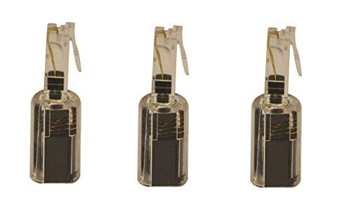 Short BLACK/ CLEAR Telephone/ Handset Coil Cord Detangler (3 pack) Network Trading® (Cord Handset Detangler)