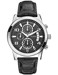 Guess Herren-Armbanduhr XL Chronograph Quarz Leder W0076G1