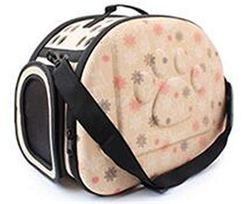 Beige-deck-matte (ekcnjs Hundekatze-Bett-Matten-Haus-Faltbare Reise-Träger-Handtasche-Welpen-tragende Rucksäcke Netz-Schulter-Beutel Beige L)