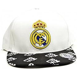 Real Madrid CF Official - Gorra de béisbol clásica con escudo del equipo (Talla Única/Blanco/Negro)