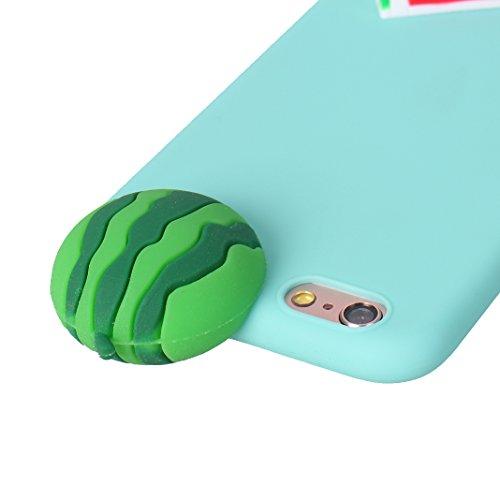 iPhone 6S Plus 3D Silikon Hülle Rosa Schleife Weiche Silikon Back Cover 3D Niedlich Frucht Muster Bumper Handyhülle Schale für iPhone 6 Plus / 6S Plus Banane Wassermelone