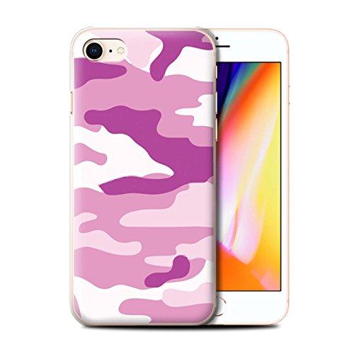 Coque de Stuff4 / Coque pour Apple iPhone 7 Plus / Blanc 2 Design / Armée/Camouflage Collection Rose 2