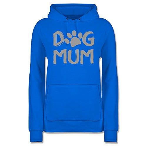 Shirtracer Hunde - Dog Mum - S - Himmelblau - JH001F - Damen Hoodie