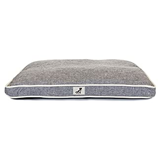 AllPetSolutions Alfie Range Beds - Large Durable Dog Bed Pillow Cushion (Grey) 10