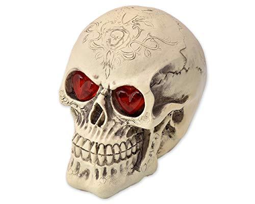 Ruisy Calavera de Halloween con Ojos Luminosos, luz LED de...