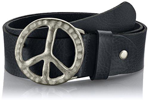 MGM Damen Gürtel Peace, Schwarz (Schwarz-Asi 1), 95 cm Peace Jeans