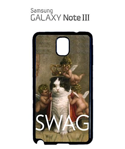 Royal Kitten Swag Angels Meow Jesus Cool Funny Hipster Swag Mobile Phone Case Back Cover Coque Housse Etui Noir Blanc pour Samsung Galaxy S5 Mini Black Noir