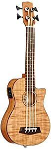 Korala uKBB - 310-cE, basse, ukulélé, flamed okume guitar head top machine, rosewood fingerboard belcat pan coupé, accordeur