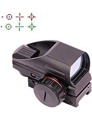 Triplespark 4 Réticule Holographique Rouge Vert Point de vue Tactique Reflex Sight Portée pour Rifle Airgun avec 20mm Rail Mount