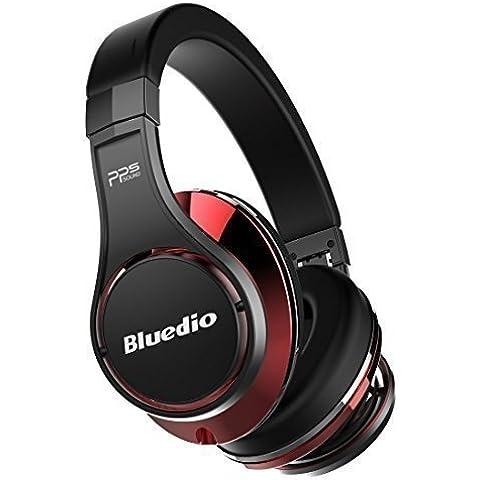 Bluedio U (UFO) Serie de fe auriculares diadema bluetooth auriculares estudio hifi efecto 3d (Negro y Rojo)