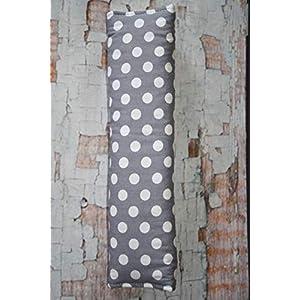 Auto Gurtpolster für Kinder und Erwachsene grau weiß gepunktet Dots Tupfen Punkte