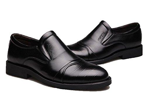 WZG affaires de Les nouveaux hommes convient première couche de réelle chaussures en cuir chaussures pieds chaussures rondes simples chaussures de sport 8 hommes Brown