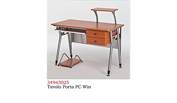 Scrivania Porta Pc Colore Ciliegio.Homegarden Tavolo Porta Computer Cassettiera Scrivania Ufficio Da