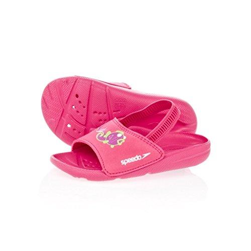 Speedo - Atami Seasquad Slide, Sandali per bambini, Rosa(Pink (Pink/Lila)), 25.5