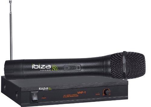 Ibiza VHF1A - Micrófono sin cable, color negro