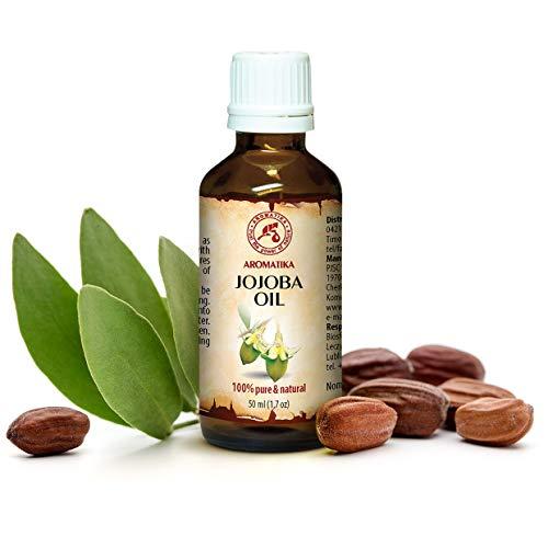 Jojoba Öl Gold Native 50ml - Reines - Naturreines Jojobaöl - Glasflasche - Argentinien - Intensive Pflege Für Gesicht - Körper - Haare - Für Massage - Körperpflege (Jojobaöl Hand-creme)