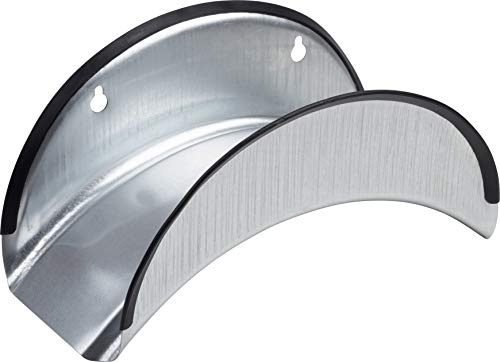 Meister Schlauchhalter - Aus verzinktem Stahl - Mit Kantenschutz - Geeignet für 25 m Schlauch (1/2 Zoll) / Wandschlauchhalter / Aufhängemöglichkeit für Gartenschlauch / Schlauchhalterung / 9926050