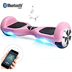 """Windgoo Hoverboard 6.5"""" Balance Board Patinete Eléctrico Scooter Talla LED, Scooter eléctrico Self-Balance (BL-Pink)"""
