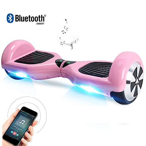 "Windgoo Hoverboard 6.5"" Balance Board Patinete Eléctrico Scooter Talla LED, Scooter eléctrico Self-Balance (BL-Pink)"
