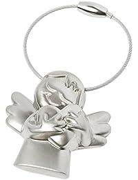 Porte-clés en métal ange gardien BRUBAKER dans boîte cadeau rouge