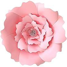 Aolvo - Plantillas de papel para decoración de flores, tamaño grande, 40 cm,