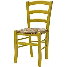 Muebles para Tutti 310GP Juego de 2sillas, madera, amarillo, 43x 42x 88cm