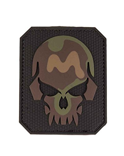Patch 3D Skull PVC m. Klett large - Jacke Patch Klett