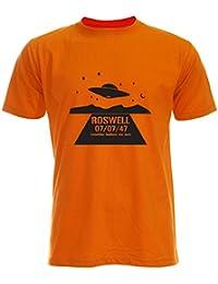 PALLAS Unisex's Alien UFO Roswell Funny T-Shirt