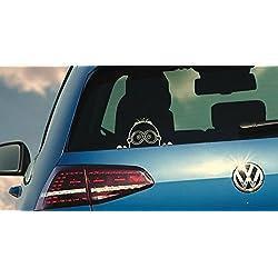 Etiqueta adhesiva de Minion para vehículos, color blanco