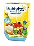 Bebivita Mini-Rigatoni mit Sauce Bolognese, 4er Pack (4 x 2 x 250 g)