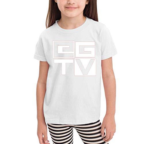 en Shirts EthanGamerTV T Shirt Kurzarm T-Shirt Für Kleinkind Jungen Mädchen Baumwolle Sommer Weiß 5/6 T ()