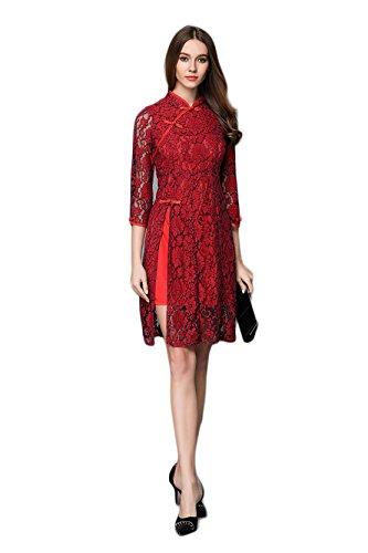 Hat china selbst kleid,Rot,XL (Kleid Von China)