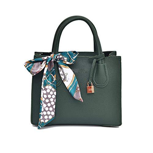 Frauen Handtaschen Weibliche Leder Umhängetasche Green 26cm13cm22cm