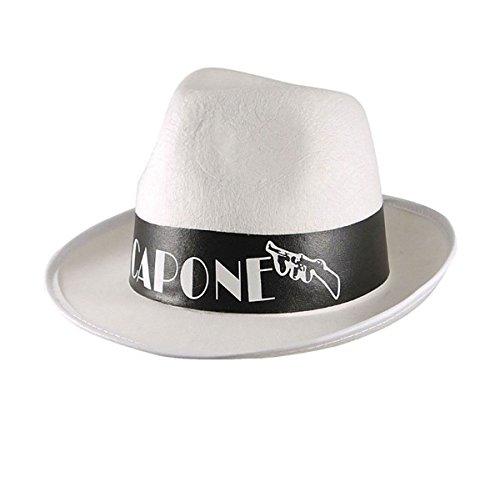 Islander Fashions Mens Al Capone Ribbon White Gangster